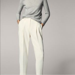 Massimo Dutti Darted Cropped Trousers